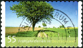 GERMANY - CIRCA 2012: Postage stamps printed in Germany, dedicated to spring break, is a landscape by Andreas Kitting, circa 2012 — Stock Photo