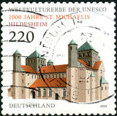 GERMANY - CIRCA 2010: Postage stamps printed in Germany, dedicated to the 1000th anniversary of St. Michael's Church in Hildesheim, circa 2010 — Stock Photo