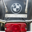 Stock Photo: BERLIN - MAY 11: The rear brake lights motorcycle BMW R75-5
