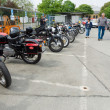 BERLIN - MAY 11: Various old motorcycle standing in a row, 26th - Stock Photo