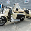 Постер, плакат: BERLIN MAY 11: Motor scooter SR 59 Berlin with IWL Stoye Campi