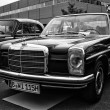 BERLIN - MAY 11: Car Mercedes-Benz W115, (black and white), 26th — Stock Photo