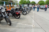 BERLIN - MAY 11: Various old motorcycle standing in a row, 26th — Stock fotografie
