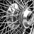 Постер, плакат: BERLIN MAY 11: Detail of the wheels of the car Jaguar E Type
