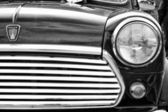 BERLIN - MAY 11: Detail of the car Rover Mini, black and white, — 图库照片