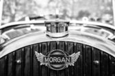 BERLIN - MAY 11: Car Emblem Morgan, F-Series three-wheelers (bla — Stock Photo