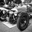 BERLIN - MAY 11: Car Morgan, V-Twin three-wheelers (black and wh — Stock Photo