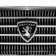 Постер, плакат: BERLIN MAY 11: The emblem the large family car Peugeot 404 bl