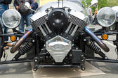 BERLIN - MAY 11: Motor Vehicle Morgan 3 close-up, V-Twin three-w — Stock Photo