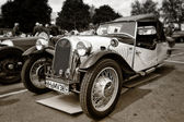 BERLIN - MAY 11: Car Morgan, F-Series three-wheelers (sepia), 26 — Foto Stock