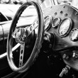 BERLIN - MAY 11: Cab car Jaguar SS-100 roadster (black and white — Stockfoto