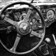 BERLIN - MAY 11: Cab Car Jaguar XK140 Roadster, (black and white — Stock Photo