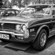 BERLIN - MAY 11: Car Mazda 929 (RX-4) Hardtop (black and white), — Stock Photo