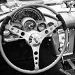 BERLIN - MAY 11: The driver's seat sports car Chevrolet Corvette — Stock Photo