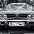 Постер, плакат: BERLIN MAY 11: Car Mazda 929 RX 4 Hardtop black and white