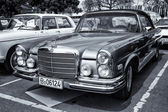 BERLIN - MAY 11: Car Mercedes-Benz 280 SE (W111) coupe (black an — Stock Photo