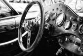 BERLIN - MAY 11: Cab car Jaguar SS-100 roadster (black and white — Stock Photo