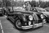BERLIN - MAY 11: Sport car Jaguar XK140 Roadster, (black and whi — Stock Photo