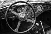 BERLIN - MAY 11: Cab Car Jaguar XK140 Roadster, (black and white — Foto Stock