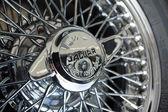 BERLIN - MAY 11: Detail of the wheel sports car Jaguar XK140 Roa — ストック写真