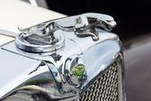 BERLIN - MAY 11: The emblem of Jaguar SS-100 roadster, 26th Oldt — Stockfoto