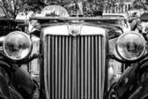 BERLIN - MAY 11: Sport car MG TD Midget, close-up, (black and wh — Stock Photo