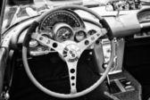 BERLIN - MAY 11: The driver's seat sports car Chevrolet Corvette — Fotografia Stock