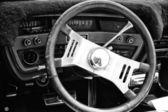 Cab car Ford Galaxie XL convertible (black and white) — 图库照片