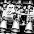 Stock Photo: Weber Carburetor close-up (Black and White)