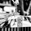 The emblem of Rolls-Royce, Spirit of Ecstasy (Black and White) — Stock Photo #27633483