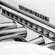 Exhaust pipes Auburn 851 Supercharged speedster (Black and White) — Zdjęcie stockowe