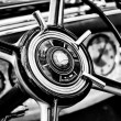 Steering wheel car Mercedes-Benz S close-up — Stok fotoğraf
