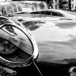 Stock Photo: Cars Jaguar E-Type Roadster close-up