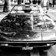 Постер, плакат: A sports car Maserati Merak Black and White