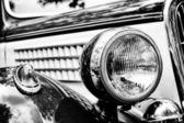 Car headlight close-up — Stock Photo