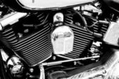 Engine Motorcycle Kawasaki (Black and White) — Stock Photo
