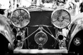The Jaguar SS 100 Roadster (Black and White) — Stock Photo