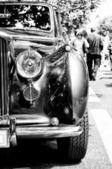 Car Bentley Mark V, a fragment (black and white) — Stock Photo