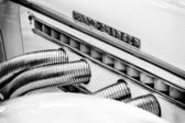 Exhaust pipes Auburn 851 Supercharged speedster (Black and White) — Stock Photo