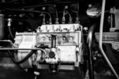 Fragment of the tractor engine Dutra D4K — Stock Photo