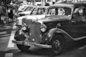Car Mercedes-Benz 170 S (black and white) — Stock Photo