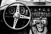 Cab Jaguar E-Type Roadster — Stock Photo
