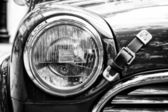 Radiator (engine cooling) and the lamp head light Rover Mini — 图库照片