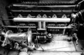 Engine compartment Hispano-Suiza H6B Million-Guiet Dual-Cowl Phaeton 1924 — Stock Photo