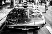 A sports car Maserati Merak (Black and White) — Stock Photo