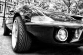 A sports car Opel GT (Black and White) — Stock Photo