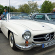 Stock Photo: BERLIN - MAY 11: Car Mercedes-Benz 190SL, 26th Oldtimer-Tage Ber