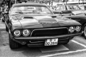 BERLIN - MAY 11: Car Dodge Challenger (black and white), 26th Ol — Stock Photo