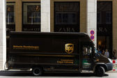 Corporate car United Parcel Service (UPS) — Stock Photo