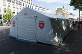 Malteser International Tent near the Brandenburg Gate — Stock Photo